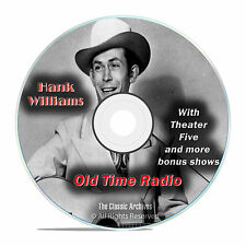 Hank Williams, 739 Episodes Old Time Radio, Complete Set, OTR DVD MP3 F96