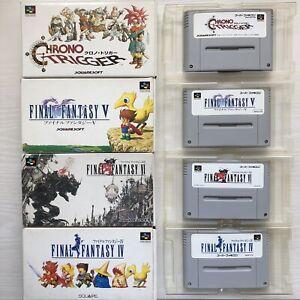 Chrono Trigger Final Fantasy IV V VI Super Famicom SFC import from Japan