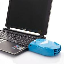 Notebook Laptop Exhaust Vacuum USB Air Extracting Cooling Fan Cooler Blue