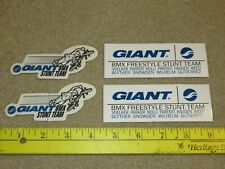 NOS vintage Giant bmx freestyle bicycle bike stickers total of 4