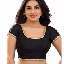 Latest Ready Made Black Dopin Saree Choli Designer Sari Top Wedding Wear Blouse