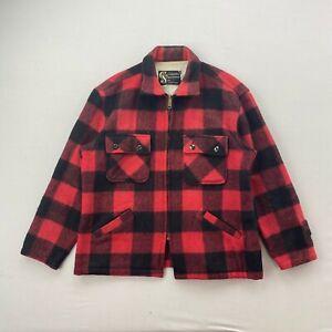 Vintage Columbia Sportswear Red Plaid Hunting Jacket Mens Large