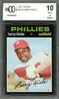 Larry Hisle Card 1971 Topps #616 Phillies (50-50 Centered) BGS BCCG 10