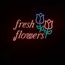 """New Fresh Flowers Rose Beer Bar Neon Light Sign 24""""x20"""""""