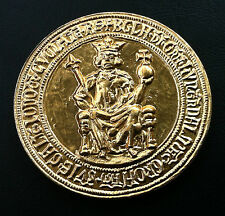 Rare silver medal - Croatia -Stamp Bule Croatian - Hungarian King Bela IV  !!!