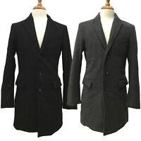 Banana Republic Donegal Men's Wool Cashmere 3 Button Dress Coat Peacoat Jacket