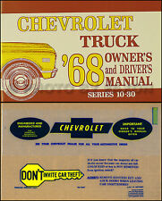 1968 Chevy Truck Owners Manual with Envelope 68 Pickup Suburban Panel Chevrolet