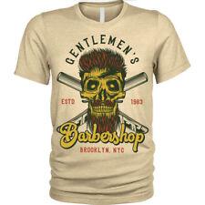 Gentlemans Barbershop T-Shirt beard shave barber Unisex Mens
