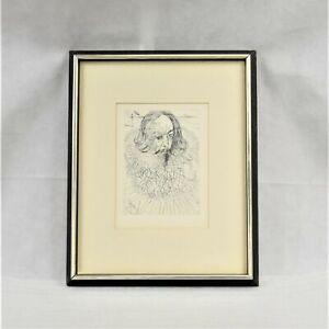 Salvador Dali's Original Etching Of Cervantes With Certificate Of Authenticity