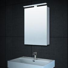 Bad LED Alu Gäste-WC Badezimmer Spiegelschrank Badspiegel Steckdose 40cm MC4601