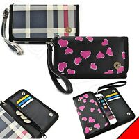 Luxury Smart Cell Phone Flip Wallet Leather Wristlet Pouch Purse Case Cover