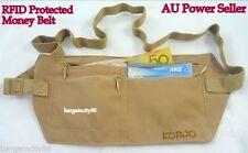 Korjo RFID Blocking Money Belt Travel Passport Holder Waist Wallet Pouch Bag New