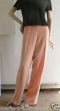 Pantalon habillé cocktail rose saumon taille 42 pour mariages cérémonie val.250€