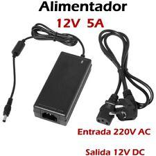 CARGADOR ALIMENTADOR TRANSFORMADOR 12V 5A 5000mA UNIVERSAL