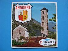 VIEW- MASTER stereo farbfotos Pochette 3 Disques Andorre C 235 F