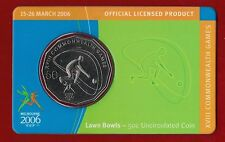 2006 Melbourne XVIII Commonwealth Games 50c Uncirculated Coin - Lawn Bowls