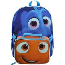 "New Disney Pixar Finding Dory 16/"" School  backpack with Nemo lunch bag"