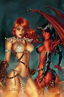 🔥 🗡 RED SONJA AGE OF CHAOS #1 EBAS Comic Connection Exclusive NM Vampirella