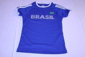 Juniors Brazil Brasil M Soccer Futbol Jersey (Royal Blue) Brasil Souvenirs Jerse