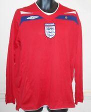 England Away Long Sleeves Shirt 2008-2010  large men's #1017
