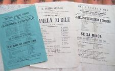 1867 STOCK FLYERS TEATRO NICCOLINI AND LODGES DI FIRENZE WORKS OF GOLDONI