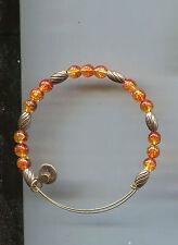 orange amberine bracelet Alex & Ani gold