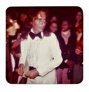 ALICE COOPER in Tux rare no makeup 1970's Candid Amateur Color Snapshot Photo