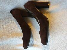 Ladies Size 4/37 Brown Court Heels Women's Shoes