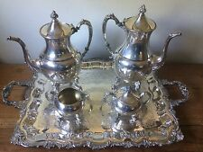 Beautiful 5 Piece SHERIDAN SILVER CO 1946-1973 Silver Plate Tea Service Set