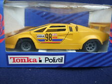 Polistil Lamborghini Countach - 1/25 Scale Yellow with Racing decals BOXED