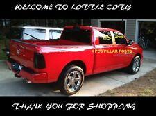 For 2010~15 16 17 Dodge Ram 1500 2500 Crew Quad Cab Stainless 4 pcs Pillar Posts