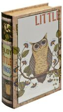 """Mirrored """"Little Owl"""" Enjoy The Little Things Book Box - Opens for storage"""