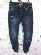Karo Star chino boyfriend estrella lentejuelas destroyed Jeans Hose talla L 40 (k758)