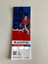 unused season hockey tickets Canadiens featuring Carey Price Jan 3 2018/2019