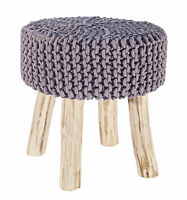 Stool Braided Gray Color