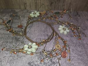 """Country Farmhouse Spring Summer DAISY PIP BERRY CANDLE RING Floral Wreath 4"""""""