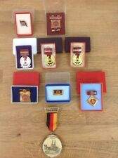 Set Of Nine Vintage Medals And Orders East Germany Communist Ribbons