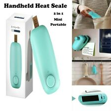 2in 1 Mini Portable Handheld Heat Sealer for Plastic Sealing Bag Cutter Resealer
