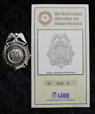 Polizeiabzeichen Idaho Aberdeen Chief Police Göde police badge polizia