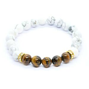 Sacral Chakra Tiger Eye Bracelet. Natural Healing Crystal healing bead Shamballa