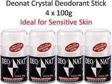4 x 100g DEONAT Natural Crystal Stick Deodorant ( Ideal for Sensitive Skin )