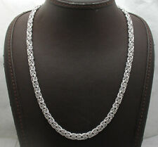 """Anti-Tarnish Domed Byzantine Chain Necklace Real Sterling Silver Qvc 18"""" 20"""""""
