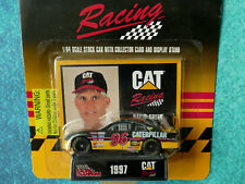 JEFF GREEN 1997 CAT Racing Champions NASCAR 1/64 Chevy Stock Car #96 Stand Card