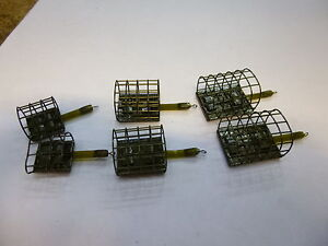 Drennan Stainless Cage Feeders x6  micro/mini/small soft pellet??