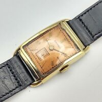 LONGINES 14K Solid GOLD Wristwatch 17 Jewels Cal. 9L from 1948 Swiss - RUNNING!