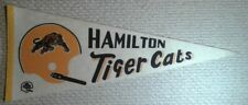 Vintage Hamilton Tiger Cats single one bar Full Size CFL football Pennant