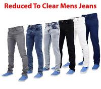 True Face Mens Slim Fit Stretch Denim Basic 5 Pocket Western Stretchable Jeans