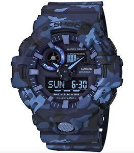Casio G-Shock *GA700CM-2A Front Button Camo Blue Watch for Men COD PayPal