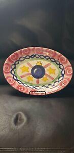 Vicki Carroll Christmas Pottery tis The season Serving Platter
