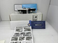 1/24 Franklin Mint 1957 Ford Fairlane 500 Skyliner Black White B11X125